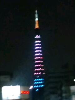 東京タワーが三色で綺麗