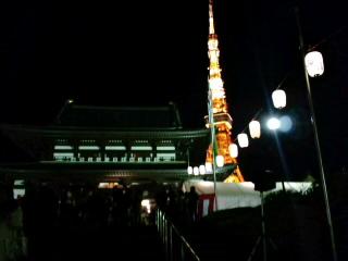 増上寺が凄い人